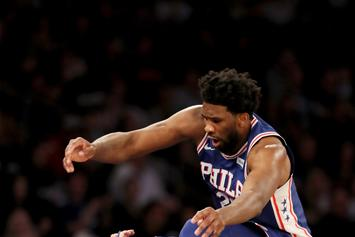 Joel Embiid Almost Takes Regina King's Head Off In Win Against Knicks