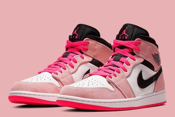 Air Jordan 1 Mid Dressed In Flashy Pink Hues