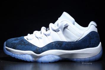 "Air Jordan 11 Low ""Navy Snakeskin"" Release Date Announced"