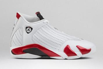 "Air Jordan 14 ""Candy Cane"" Rip Hamilton PE: New Images + Release Info"