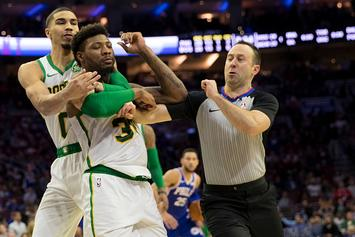 Marcus Smart Ejected After Altercation With Joel Embiid: Video