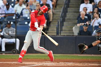 Bryce Harper Hits First Home Run With The Phillies: Watch