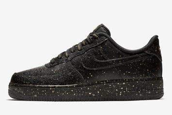 """Nike Air Force 1 """"Only Once"""" Bedazzles With Gold Speckles"""