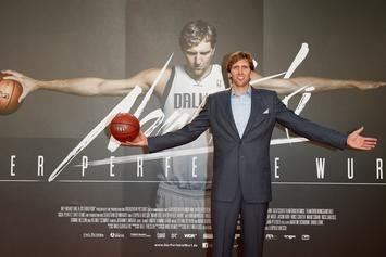 Dirk Nowitzki Holds Back Tears While Giving Emotional Retirement Speech In Dallas