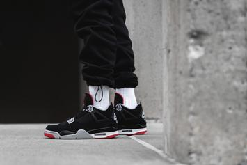 "Air Jordan 4 Retro OG ""Bred"" Releasing Soon: On-Foot Images"