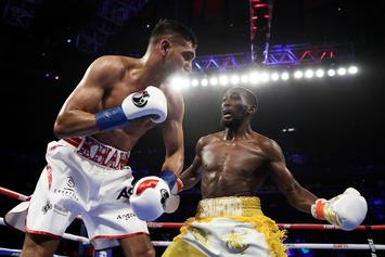"Terence Crawford Says Amir Khan Took ""Easy Way Out"" After Low Blow"