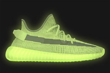 "Adidas Yeezy Boost 350 V2 ""Glow"" Release Date Confirmed: On-Foot Photos"