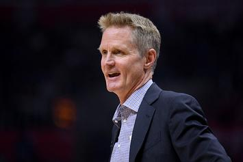 Steve Kerr Opens Press Conference By Flopping, Asking For A Foul Call: Video