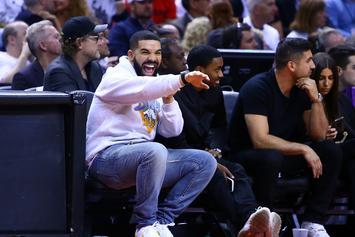 Drake Mocks Joel Embiid With Airplane Taunt During Blowout Raptors Win
