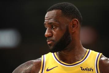 "LeBron James Flexes Unreleased Nike Air Fear Of God 1 ""Frosted Spruce"""