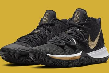 "Nike Kyrie 5 ""Black & Gold"" Inspired By 2016 NBA Finals: Official Photos"