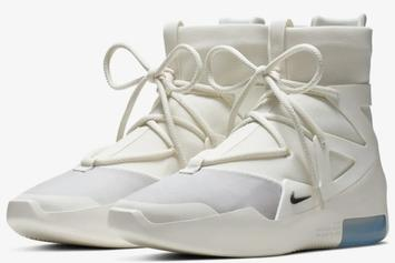 "Nike Air Fear Of God 1 ""Sail/Black"" Release Date, Official Photos"