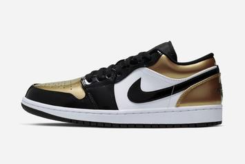 "Air Jordan 1 Low ""Gold Toe"" Officially Revealed: First Look"