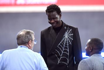 Bol Bol Shows Off Squidward Tattoo, Says He's Seen Every SpongeBob Episode