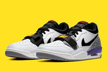 """Jordan Legacy 312 Low To Drop In """"Lakers"""" Colorway: Official Photos"""