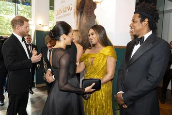 """The Carters & The Royals Connect At """"The Lion King"""" London Premiere"""