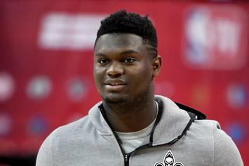 Zion Williamson Shows Off Football Skills At Saints Training Camp: Watch