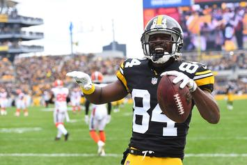 "Antonio Brown's Helmet & Foot Situation To Be Addressed On ""Hard Knocks"""