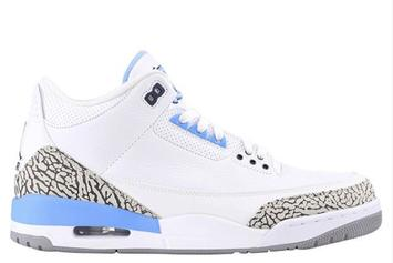 "Air Jordan 3 ""UNC"" Set To Release For March Madness"