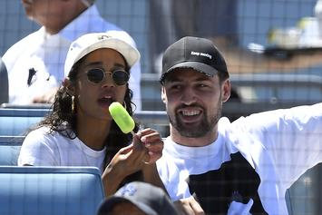 Klay Thompson Heckles Players & Dances With GF At Cubs Game: Watch