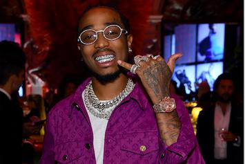 Quavo Shows Off World's First Emerald Cut Grill