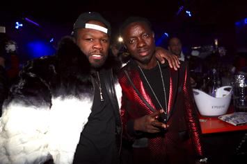 50 Cent Sends Burly Man To Press Michael Blackson Over Outstanding Debt