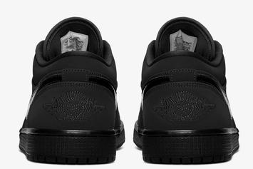 "Air Jordan 1 Low ""Triple Black"" Offers Up A Stealthy Aesthetic: Official Photos"