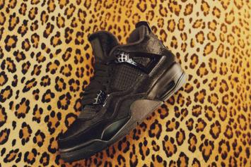 "Olivia Kim x Air Jordan 4 ""Bovine Fur"" Release Date Revealed: Photos"