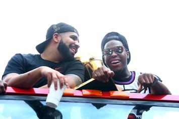 Drake & Fred VanVleet Hilariously Photobombed By Kyle Lowry