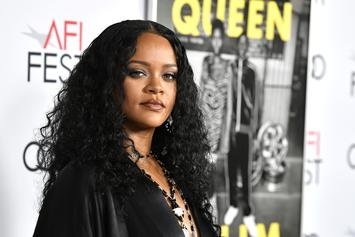 Rihanna & Her Brother Get Personalized Jerseys At Italian Football Game