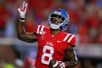 """Ole Miss WR Cost His Team The Game By """"Urinating Dog"""" Celebration: Watch"""