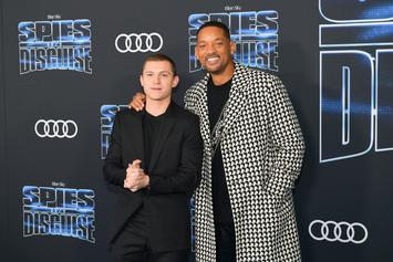 "Tom Holland & Will Smith Met For First Time In Escape Room After Filming ""Spies In Disguise"""