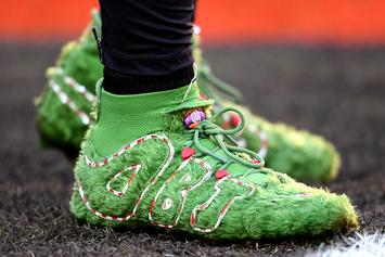 Odell Beckham Jr. Shows Off Grinch-Themed Cleats Against The Ravens