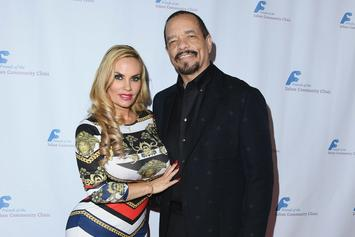 Ice-T's Wife Coco Austin Puts Voluptuous Body On Display In Tiny Fishnet Dress