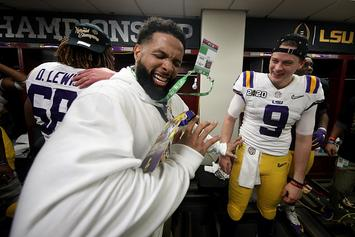 Odell Beckham Jr. Spanks Cop For Attempting To Spoil LSU's Celebration