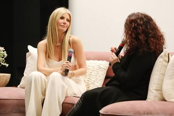 "Gwyneth Paltrow Poses In Front Of Vagina Bouquet At Her ""Goop Lab"" Premiere"
