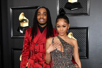 Quavo Jokingly Takes Credit For Saweetie's Insane Figure In Latex Bodysuit