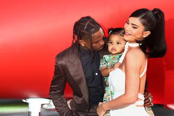 Travis Scott Shoots Some Hoops With Daughter Stormi