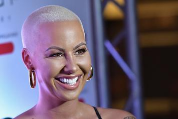 Amber Rose Switches Up Look With Long Blonde Mane