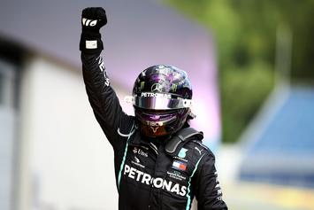 Lewis Hamilton Raises Fist In Support Of BLM After Grand Prix Win