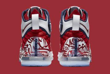 """Nike LeBron 17 """"Fire Red Graffiti"""" Coming Soon: Official Images"""
