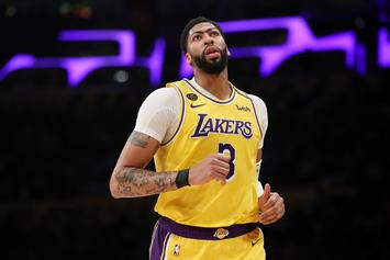 Anthony Davis Bows Out Of Lakers Game After Eye Injury