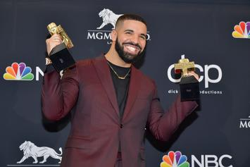 "Drake Eats Spaghetti Off Of Spotify Plaque For 1 Billion ""In My Feelings"" Streams"