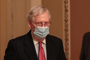 Mitch McConnell's Home Vandalized After Blocking $2000 Stimulus Checks