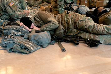 National Guardsmen Sleep In Capitol Building Amid Threats Of Violence