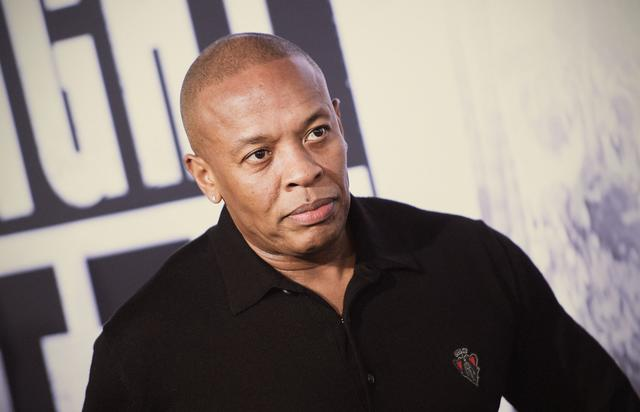Dr. Dre at the Straight Outta Compton movie premiere