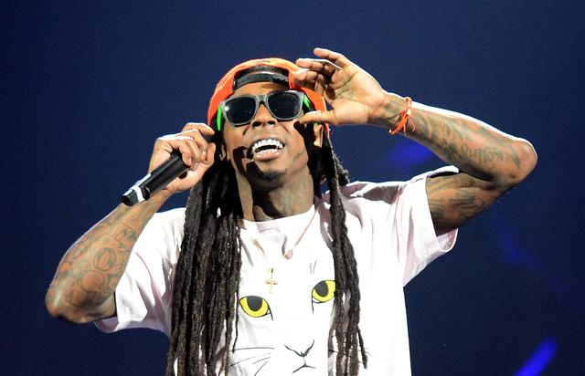 Lil Wayne at america's most wanted show