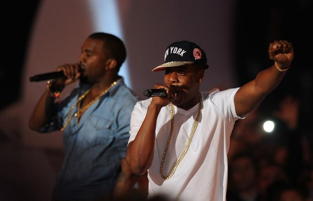 Jay Z and Kanye West at 2011 MTV VMAs