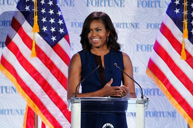michelle obama at Fortune's Most Powerful Women Summit