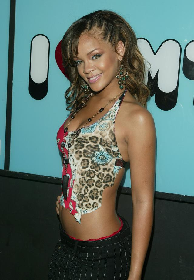 Singer Rihanna makes an appearance on MTV's Total Request Live on September 6, 2005 in New York City.